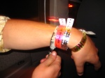 Well here's one way to not loose your daily VIP bands ... nerd!