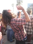 This guys was rockin' out to Metric!
