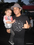 Hosoi and his adorable lil boy.