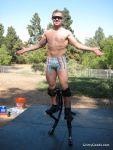 I'm gonna quit running and start pogo stilting!