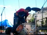 Adrian going off on the drum!