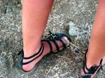 Hot chick with the ugliest big toes I've ever seen!
